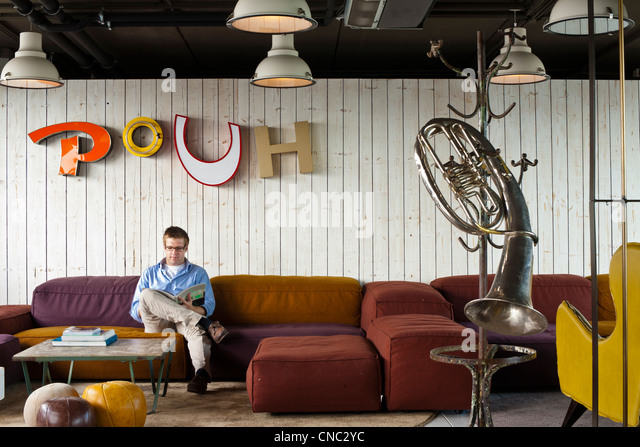 Austria, Vienna, 25hours Hotel, opened in 2011, with a decoration based on circus, a creation by Dreimeta Agency, - Stock Image