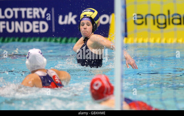 Water Polo - LEN Women's European Nations Trophy - Day Three - Manchester Aquatics Centre - Stock Image