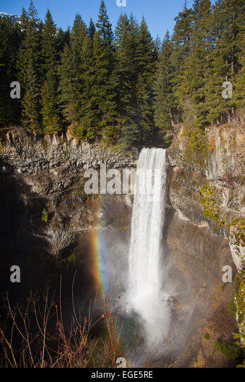 70 meter water fall at Brandywine Falls Provincial Park, British Columbia, Canada - Stock Image