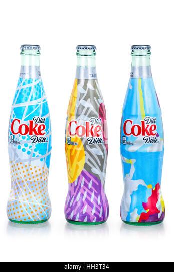 IT'S MINE Diet Coke Campaign, Special Design Bottles - Stock Image