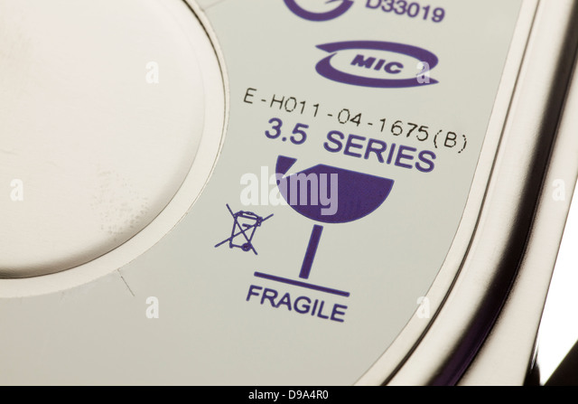 Fragile symbol - Stock Image