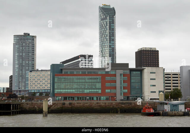 12 princes parade office building princes dock Liverpool waterfront Merseyside UK - Stock Image