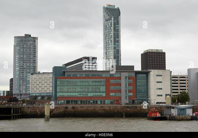 12 princes parade office building princes dock Liverpool waterfront Merseyside UK - Stock Image