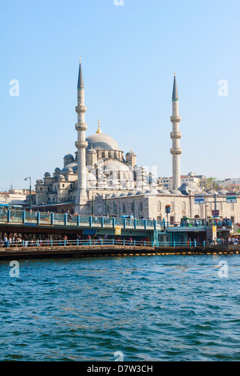 Yeni Cami (New Mosque), Istanbul Old city, Turkey - Stock Image
