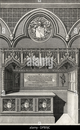 CHAUCER/TOMB - Stock Image