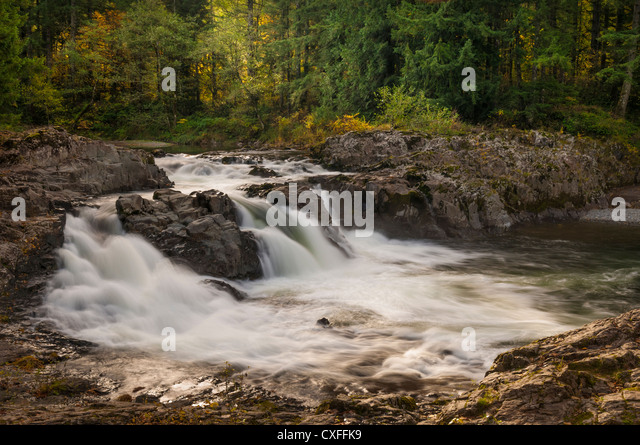 Lucia Falls, East Fork Lewis River, Clark County, Washington. - Stock Image