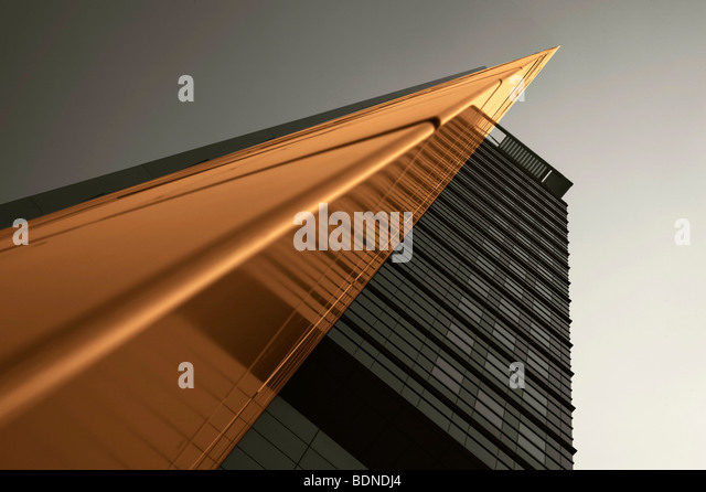 Architectural picture of a multistory building, in Frankfurt, Hesse, Germany, Europe - Stock Image