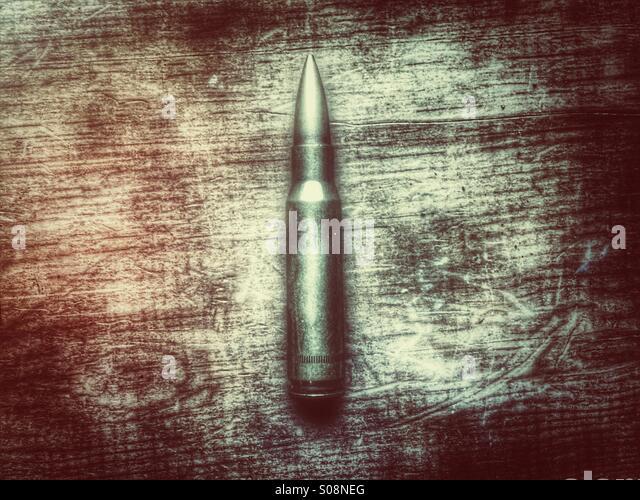 Single bullet - Stock Image