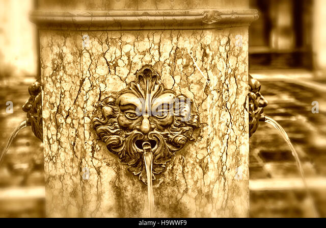 Fountain , Venezia, Venice, Venedig, Italia, Europe, - Stock Image