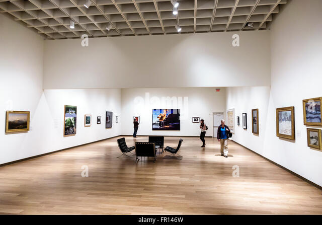 Florida FL Orlando North Orange District Loch Haven Park Orlando Museum of Art inside gallery - Stock Image