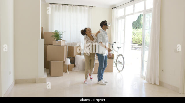 Girl Standing In A Big Empty Room