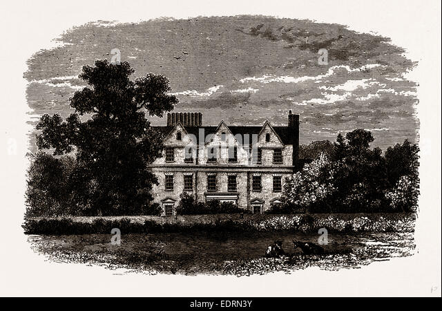 BOSTON HOUSE, from an old Print of 1799 - Stock Image