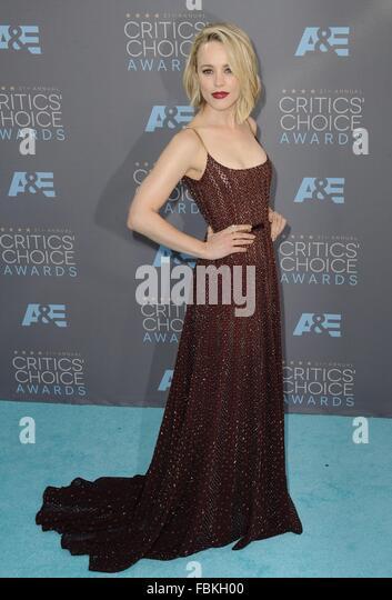 Santa Monica, CA. 17th Jan, 2016. Rachel McAdams at arrivals for 21st Annual Critics' Choice Awards - Part 2, - Stock Image