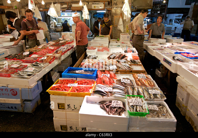 Tsukiji fish market stock photos tsukiji fish market for Wholesale fish market