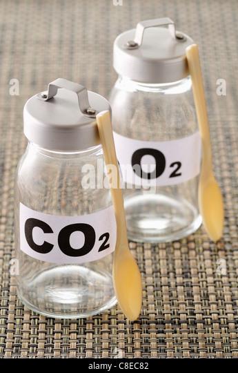 Jars of oxygen - Stock Image