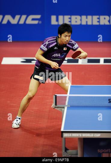 ISS Arena Duesseldorf, Germany 16.10.2014, Liebherr Tabletennis World Cup ,  Jun Mizutani (JPN) - Stock Image