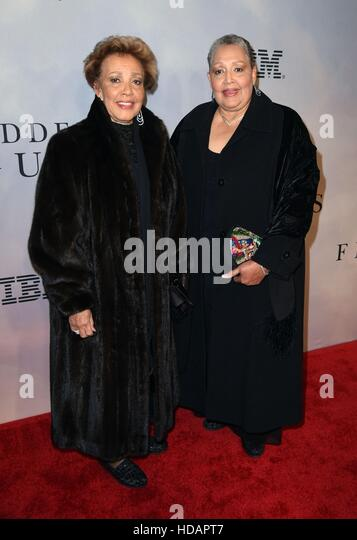 New York, NY, USA. 10th Dec, 2016. Joylette Goble, Katherine Goble, (Katherine Johnson's daughters) at arrivals - Stock Image
