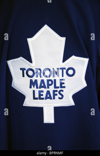 Toronto Maple Leafs ice hockey shirt - Stock Image