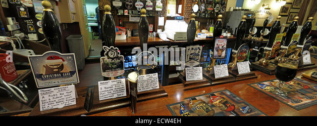 A bar of CAMRA real ale,Craven Arms,Birmingham - Wide shot - Stock Image