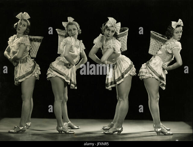 The girls, 1930s - Stock Image