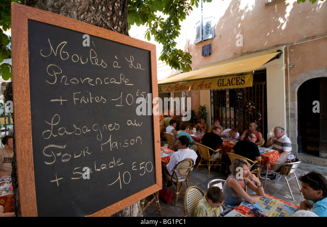 Outdoor cafe, Grasse, Alpes-Maritimes, Provence, France, Europe - Stock Image