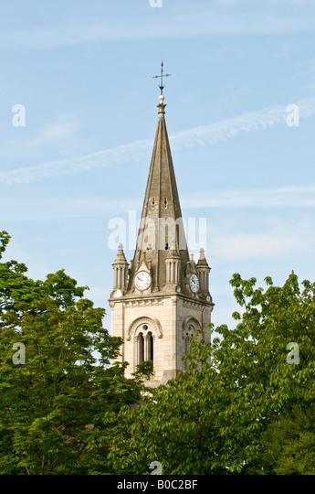Yzeures-sur-Creuse church steeple, Indre-et-Loire, France. - Stock Image