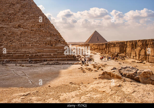 Image of the pyramids of Giza in Cairo, Egypt. - Stock-Bilder