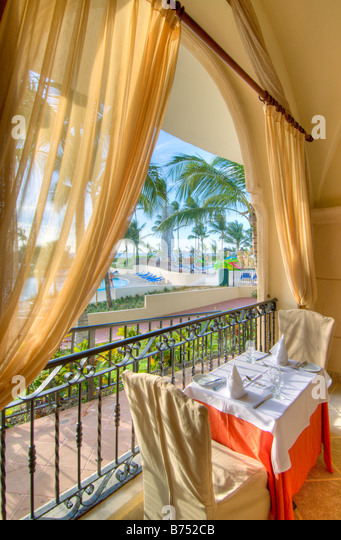 Caribbean Dominican Republic Barcelo Premium Punta Cana all inclusive resort - Stock Image