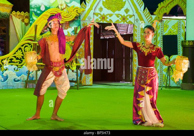 Dance show in Phuket Town, Phuket Island, Thailand, Asia - Stock-Bilder