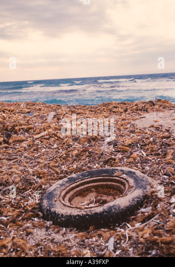 beach, Sardinia, Italian, close up, pollution, detail, dispersed in the environment, vandalism, ecology, crushed, - Stock Image
