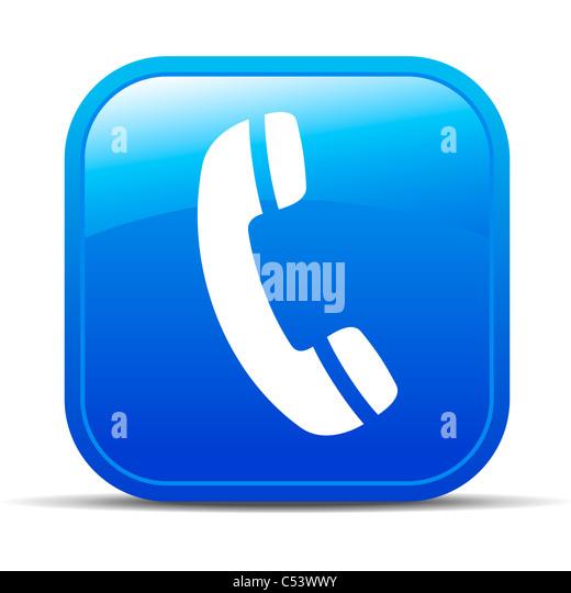Phone Internet button Icon - Stock Image