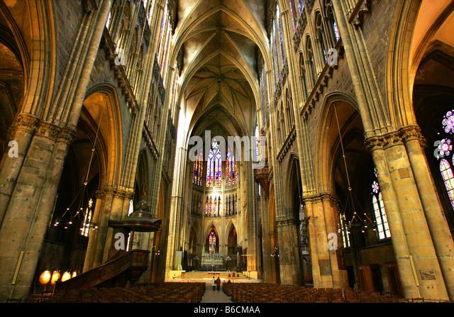 St. Etienne's Cathedral in Metz, in the Lorraine region of France. - Stock-Bilder