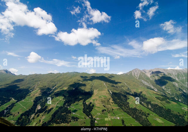 Scenic Panorama Cloudy Valley In Stock Photos Scenic Panorama Cloudy Valley In Stock Images