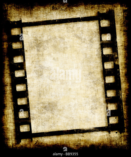 old grungy filmstrip or photo negative image - Stock-Bilder