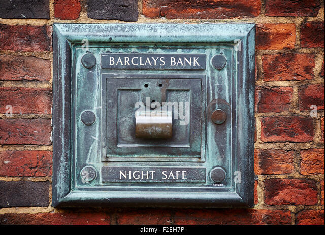 Barclays bank night state on the side of their Mill Street branch in Macclesfield Cheshire UK   UK Great Britain - Stock Image