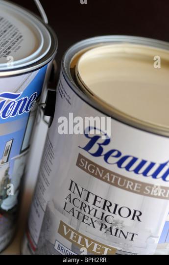 Acrylic Latex Paint - Stock Image