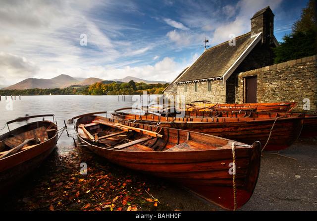 Derwentwater Lake District Cumbria UK - Stock Image