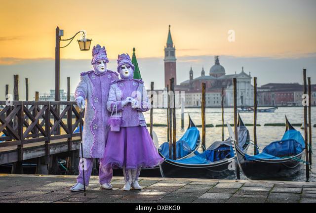 Venetian carnival masks - Stock-Bilder