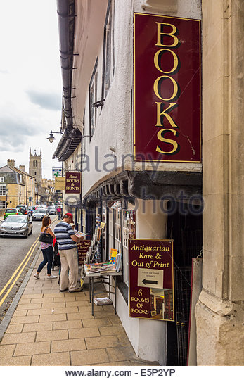 Antiquarian and Rare and out of print bookshop in Stamford, Lincolnshire - Stock-Bilder