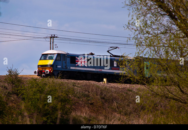 Greater Anglia intercity train - Stock-Bilder