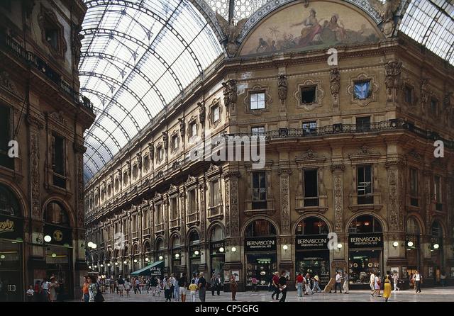 London Gallery Vitt.Emanuele - Stock Image
