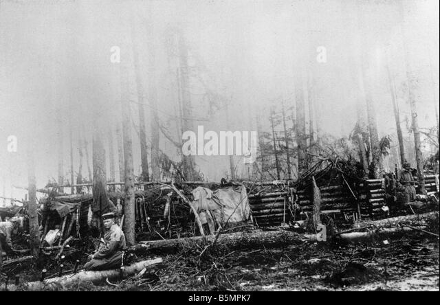 9 1916 3 18 A1 13 E Battle of Postawy 1916 Ger position World War 1 Eastern Front Defeat of Russian troops after - Stock-Bilder