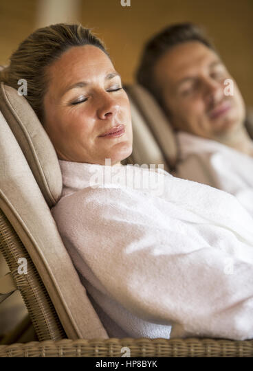 couple in steam room stock photos couple in steam room stock images alamy. Black Bedroom Furniture Sets. Home Design Ideas