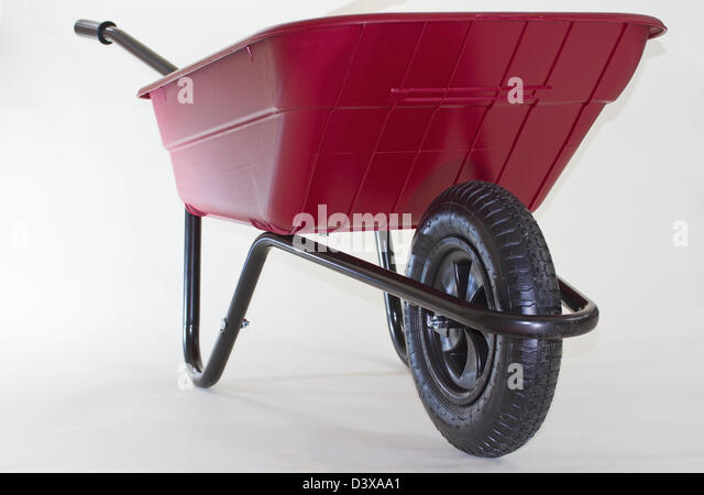 Plastic Lightweight Wheelbarrow - Stock Image