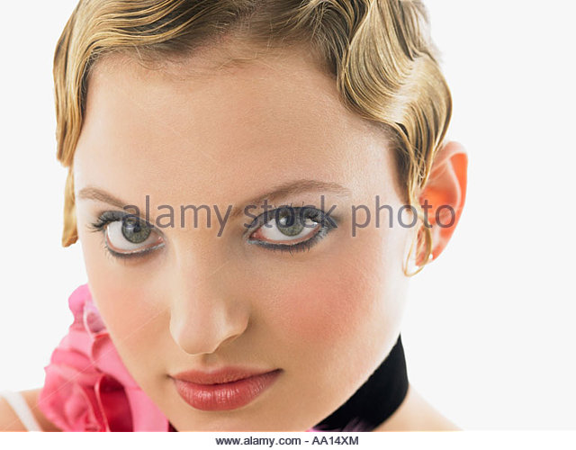 man s hair style necklace stock photos amp necklace stock images 8051 | young woman with short hair aa14xm