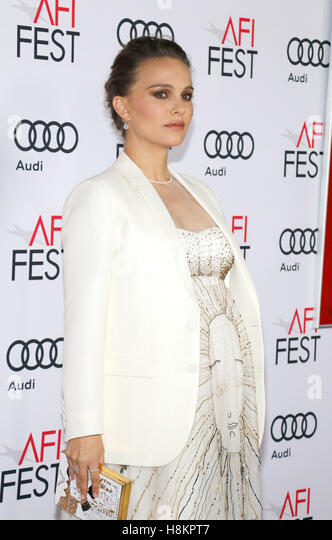 Natalie Portman at the AFI FEST 2016 Centerpiece Gala Screening of 'Jackie' held at the TCL Chinese Theatre - Stock Image