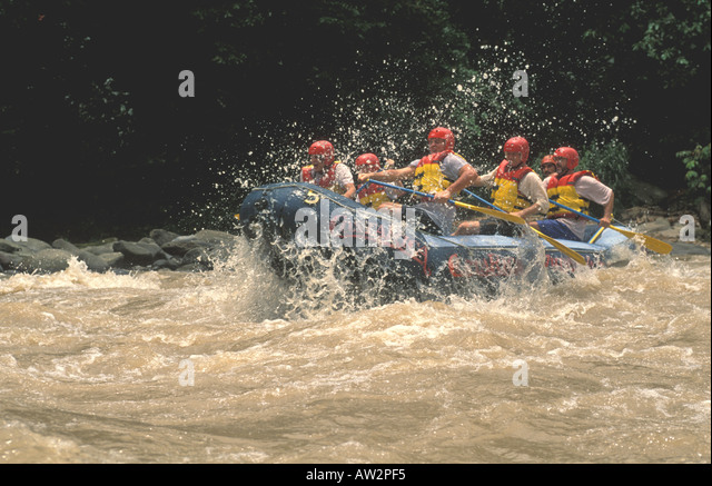 costa rica whitewater rafting pacuare river - Stock Image