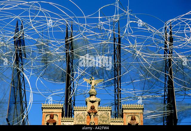 spain Barcelona Fundacio Tapies - Stock Image