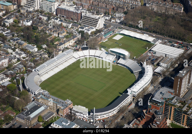 Aerial photograph of Lords Cricket Ground - Stock Image
