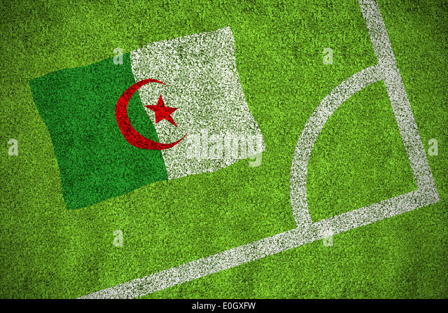 Algeria national flag - Stock Image